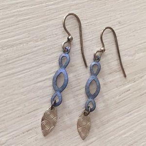 Purple & Silver Earrings